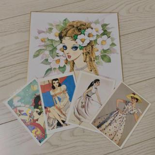 中原淳一 色紙とポストカード(その他)