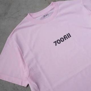 ワンエルディーケーセレクト(1LDK SELECT)の【新品】700fill print tee pink m(Tシャツ/カットソー(半袖/袖なし))