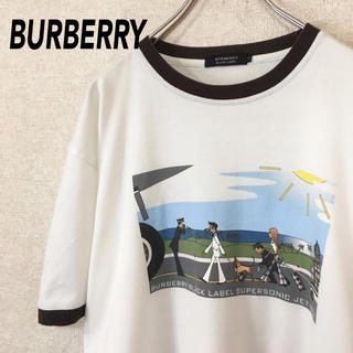 BURBERRY - バーバリー 半袖 Tシャツ 古着 日本製 レアデザイン メンズ レディース L