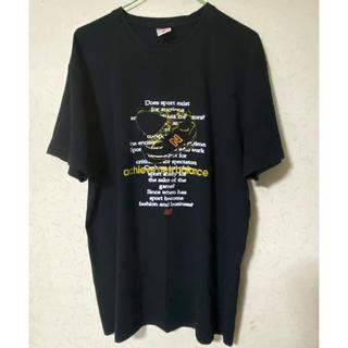 ニューバランス(New Balance)のNB new balanceメンズ半袖Tシャツ ブラック LL ペイント英文字(Tシャツ/カットソー(半袖/袖なし))