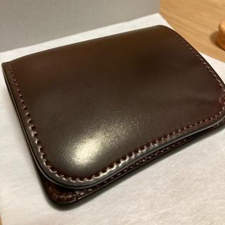 ガンゾ(GANZO)の【新品】ワイルドスワンズ パーム シェルコードバン #8(折り財布)