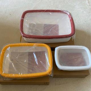 フジホーロー(富士ホーロー)の富士ホーロー 保存容器 浅型角容器3点セット(容器)