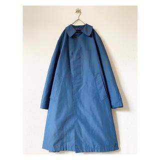 バーバリー(BURBERRY)の薄手 vintage 70s usa製 sears ライトブルースプリングコート(ステンカラーコート)