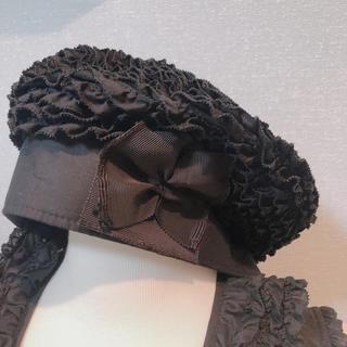 カネコイサオ(KANEKO ISAO)のワンダフルワールド 黒フリル帽子(その他)