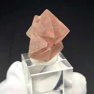 蛍石 8面体ピンクフローライト 内モンゴル産 鉱物 天然石[OH16-41](その他)