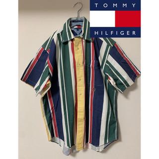 トミーヒルフィガー(TOMMY HILFIGER)の【激レア】トミーヒルフィガー 半袖シャツ マルチカラー(Tシャツ/カットソー(半袖/袖なし))