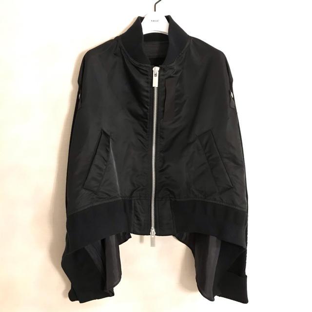 sacai(サカイ)の♡サカイ♡2020SS♡ファブリックコンボMA-1ブルゾン♡ レディースのジャケット/アウター(ブルゾン)の商品写真