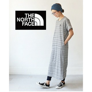 THE NORTH FACE - 刺繍ロゴ Tシャツワンピ THE NORTH FACE