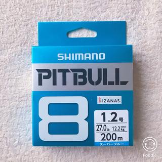 シマノ(SHIMANO)の【新品】シマノ ライン ピットブル8 200m  1.2号 スーパーブルー(釣り糸/ライン)