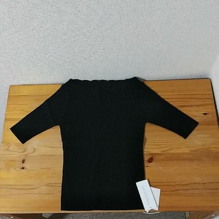 PROPORTION BODY DRESSING - プロポーションボディドレッシング☆スカラップ五分袖リブニット☆ブラック