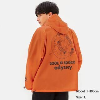 ジーユー(GU)の新品未使用 GU アノラックパーカ XLサイズ 2001年宇宙の旅 オレンジ(ナイロンジャケット)