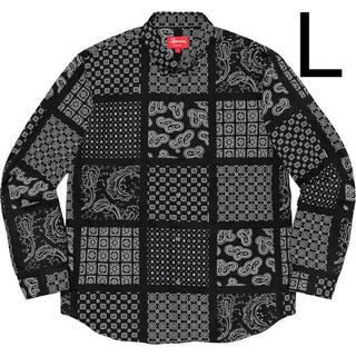 Supreme - Lサイズ SUPREME Paisley Grid Shirt