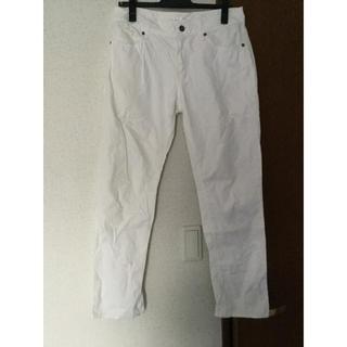 ハニーズ(HONEYS)のcomfort basic ホワイト コットン パンツ(カジュアルパンツ)