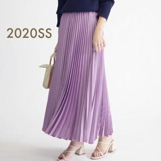 シップス(SHIPS)の今期 2020SS 人気 完売 SHIPS サテンプリーツスカート(ロングスカート)