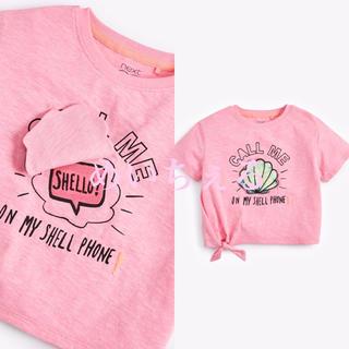 ネクスト(NEXT)の【新品】next ピンク スパンコールインタラクティブシェルTシャツ(オールド)(Tシャツ/カットソー)