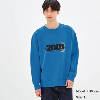 ジーユー(GU)の新品未使用 GU ビッグスウェットシャツ Mサイズ 2001年宇宙の旅 (スウェット)
