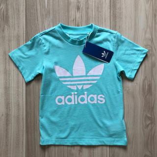 【新作】アディダスオリジナルス アクアブルー トレフォイル Tシャツ 100cm