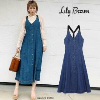Lily Brown - リリーブラウン  デニムワンピース