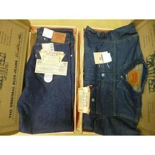 リーバイス(Levi's)の新品 LEVIS 天然藍染1991年限定復刻版上下 7701SXX 701SXX(Gジャン/デニムジャケット)