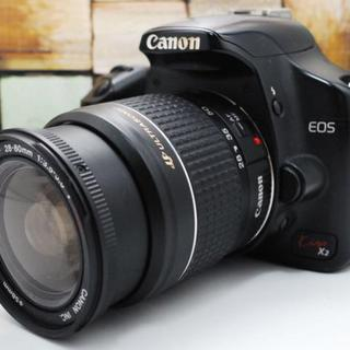 キヤノン(Canon)の★Wi-Fiセット★Canon Kiss X2 レンズセット★(デジタル一眼)