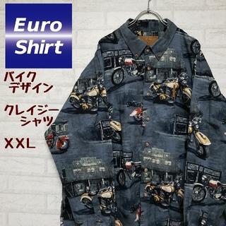《ユーロ古着》NORTH RIVER ノースリバー バイクデザインシャツ XXL(シャツ)