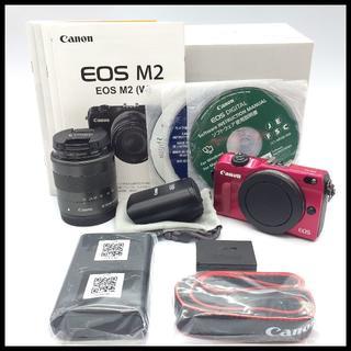 キヤノン(Canon)の【Wi-Fi】 CANON EOS M2 標準レンズキット ストロボ付(ミラーレス一眼)
