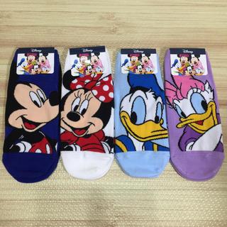 Disney - ディズニー 靴下 4足 セット ミッキー ドナルド