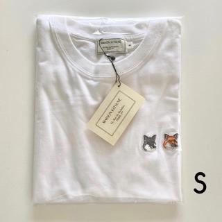 MAISON KITSUNE' - MAISON KITSUNE ダブルフォックス Tシャツ ホワイト S