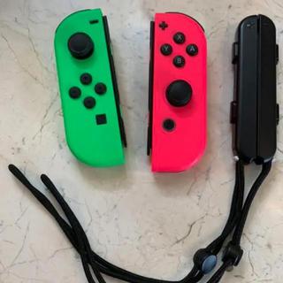 ニンテンドースイッチ(Nintendo Switch)のSwitch ジョイコン左右セット ネオングリーン/ネオンピンク(その他)