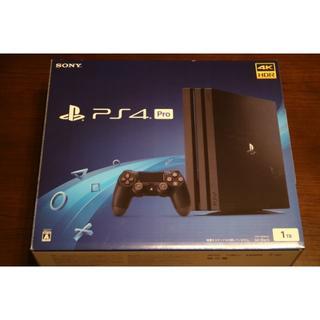 プレイステーション4(PlayStation4)の 美品 PS4 Pro 1TB  CUH-7200BB01ジェットブラック (家庭用ゲーム機本体)