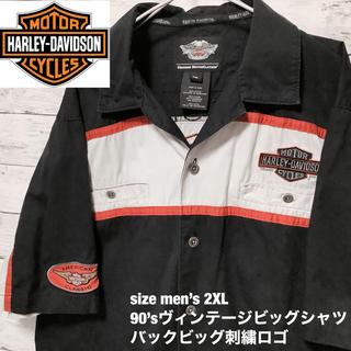 ハーレーダビッドソン(Harley Davidson)の[一点物][HARLEY-DAVIDSON]90'sヴィンテージシャツ 2XL(シャツ)
