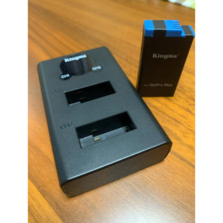 KingMa  gopro max 用バッテリー充電器 バッテリーひとつオマケ(コンパクトデジタルカメラ)