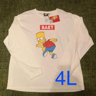 新品☆SIMPSONS ロングスリーブTシャツ 4L(Tシャツ/カットソー(七分/長袖))