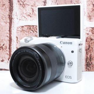 キヤノン(Canon)の★ Wi-Fi搭載★美品★Canon EOS M3 ホワイト レンズセット★(ミラーレス一眼)