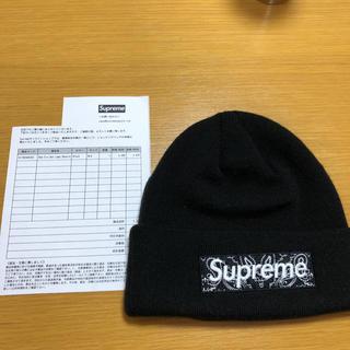 シュプリーム(Supreme)の【未使用】supreme NewEra Box Logo Beanie ブラック(ニット帽/ビーニー)