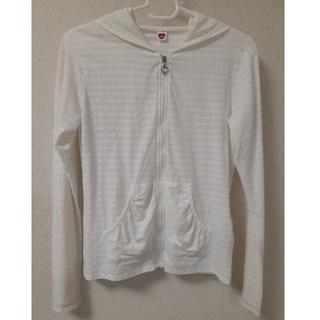 女の子 パーカー 160 ☆ 白 ホワイト(ジャケット/上着)