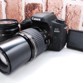 キヤノン(Canon)の★美品★Canon EOS 8000D ダブルレンズ★(デジタル一眼)