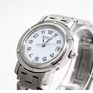 Hermes - 【HERMES】エルメス腕時計 'クリッパー ホワイト文字盤' ☆美品☆
