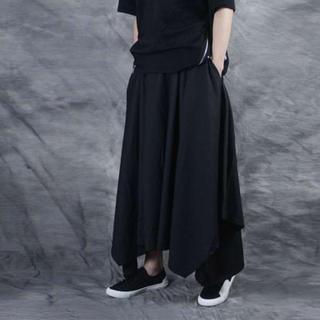 ♡即購入OK♡ワイドパンツ 袴パンツ フリーサイズ コムデギャルソン好の方に(サルエルパンツ)
