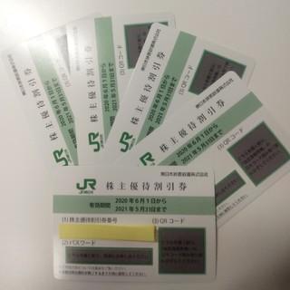 ジェイアール(JR)のJR東日本旅客鉄道 株主優待券5枚(1枚4割引)(鉄道乗車券)