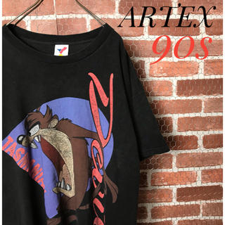 Champion - 激レア 90s ARTEX 古着 半袖Tシャツ 黒  ブルドッグ 犬