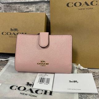 COACH - 【新品】コーチ 折り財布 財布 二つ折り財布 ピンク