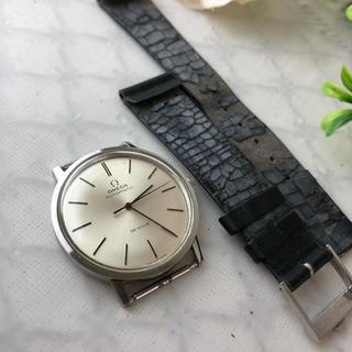 オメガ(OMEGA)の決算セール☆OMEGAオメガ アナログ時計 腕時計 レザーベルト 自動巻(腕時計(アナログ))