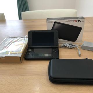 ニンテンドー3DS(ニンテンドー3DS)のニンテンドー3DS LL ブラック ケース付き(携帯用ゲーム機本体)