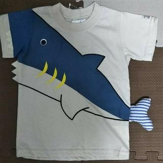 【新品】さめ Tシャツ 95 ライトベージュ(Tシャツ/カットソー)