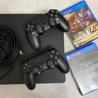 プレイステーション4(PlayStation4)のプレステ4本体+コントローラー2台+ソフト2個付き!(家庭用ゲーム機本体)