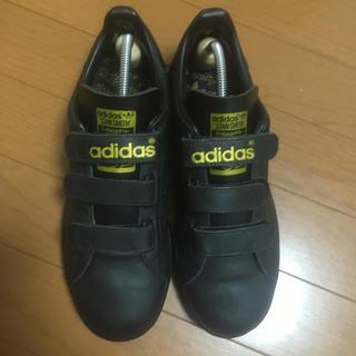 アディダス(adidas)のアディダスマスターブラックレザー  限定 ベルクロ25.5(スニーカー)