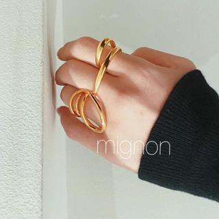 ドゥーズィエムクラス(DEUXIEME CLASSE)のunique  loop ring 《gold》(リング(指輪))