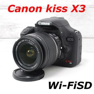 キヤノン(Canon)の❤️シャッター回数わずか471枚❤️スマホ転送❤️Canon kiss X3(デジタル一眼)