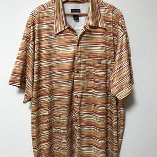パタゴニア(patagonia)の美品 パタゴニア シャツ 半袖 ボーダー Xl リズム(シャツ)